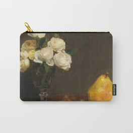 Henri Fantin-Latour - Still Life With Roses And Fruit Carry-All Pouch