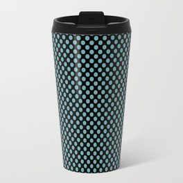 Black and Aqua Sea Polka Dots Travel Mug