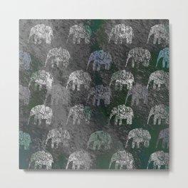 Elephants are going Metal Print