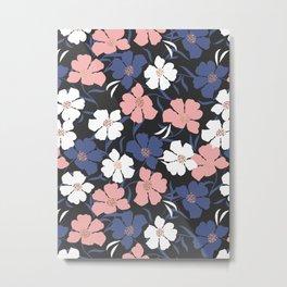 Spring Peony Pattern Metal Print