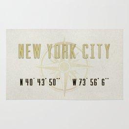 New York City Vintage Location Design Rug