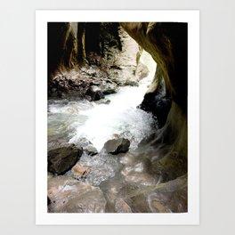 Climbing Down to the 200-Foot Depths of Box Canyon Falls Art Print