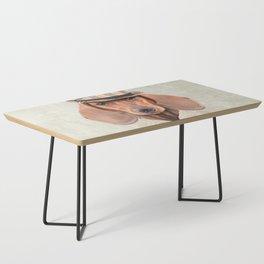 The stylish Mr Dachshund Coffee Table
