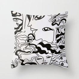 Caos Throw Pillow