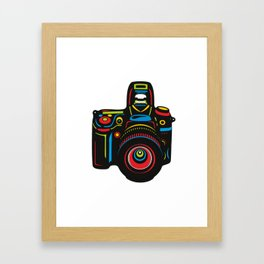 Black Camera Framed Art Print