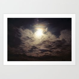 On a cloudy day. Art Print