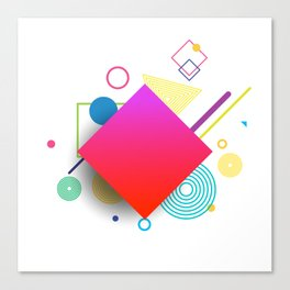 Displaced Geometry Canvas Print