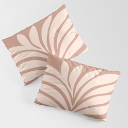 Abstract Fern 2. Terracotta #minimal Pillow Sham