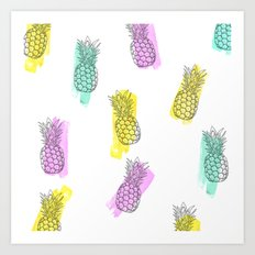 Funky ananas Art Print