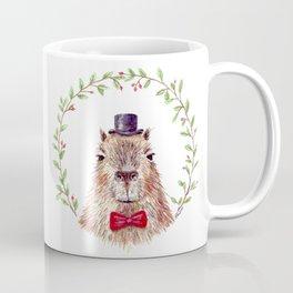 "Watercolor painting ""Sir Capybara"" Coffee Mug"