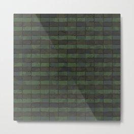 Dark Green Floor Tails Metal Print