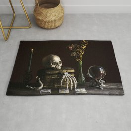 Vanitas, Memento Mori, Macabre Halloween Photo Rug