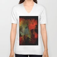 central park V-neck T-shirts featuring Owls of Central Park by Ganech joe