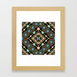 Millefiori Floral Lattice Framed Art Print
