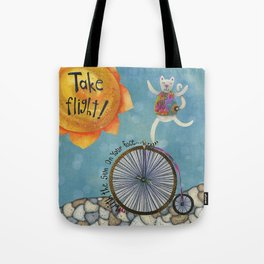 Take Flight With The Sun On Your Face Tote Bag