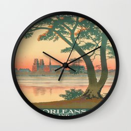 Vintage poster - Orleans Wall Clock