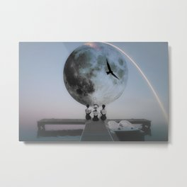 The moon will rise Metal Print