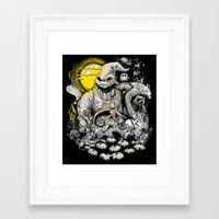 nightmare Framed Art Prints featuring Nightmare! by Billy Allison