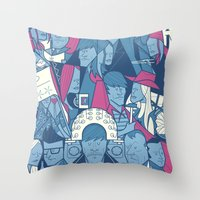 eternal sunshine Throw Pillows featuring Eternal Sunshine of the Spotless Mind by Ale Giorgini