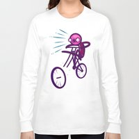 cycling Long Sleeve T-shirts featuring Cycling Disaster by Artistic Dyslexia