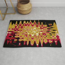 Black Gold Abstract Rug