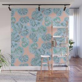 Tropical Sea Grape Leaves Wall Mural