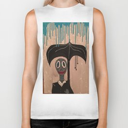 Rainy Day Fwend Biker Tank