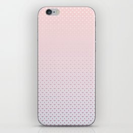 Ombre Red pink white hearts and raindrops on a sunset pink purple background iPhone Skin