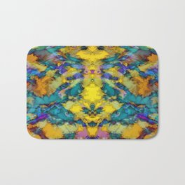 Interlocking ghosts yellow Bath Mat