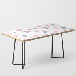 Pink Gray Butterfly Coffee Table
