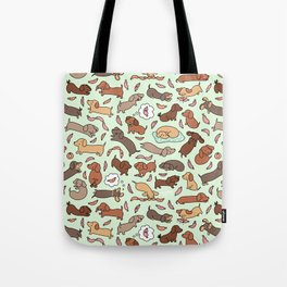 Wiener Dog Wonderland Tote Bag