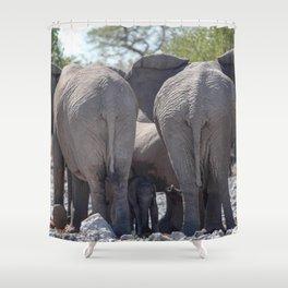 Elephant Love 4 Shower Curtain