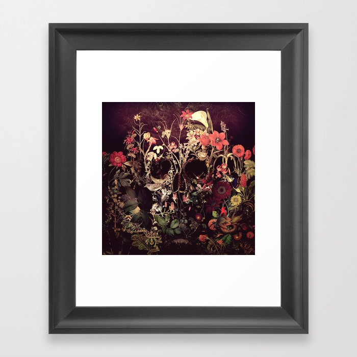 Bloom Skull Gerahmter Kunstdruck