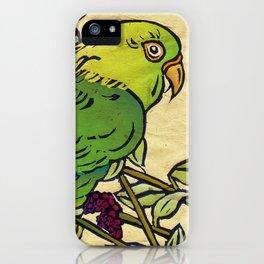 Parrot Linocut iPhone Case