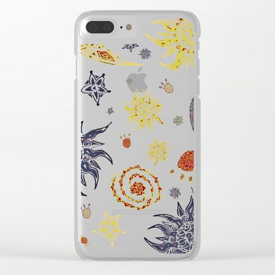 Christmas Space Pattern Clear iPhone Case