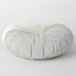 Ab Half and Half Grey Floor Pillow