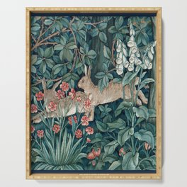 William Morris Forest Rabbits and Foxglove Serving Tray