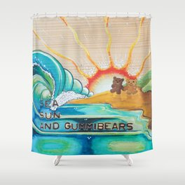 Sea, Sun and Gummibears Shower Curtain