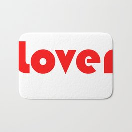 Red Lover Bath Mat