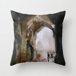 Under the Ali Qapu palace Throw Pillow