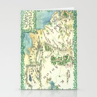 middle earth Stationery Cards featuring Middle Earth map by Ioreth