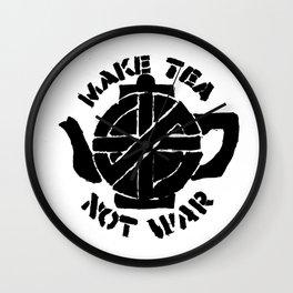 Make Tea Not War Wall Clock