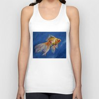 goldfish Tank Tops featuring Goldfish by Michael Creese