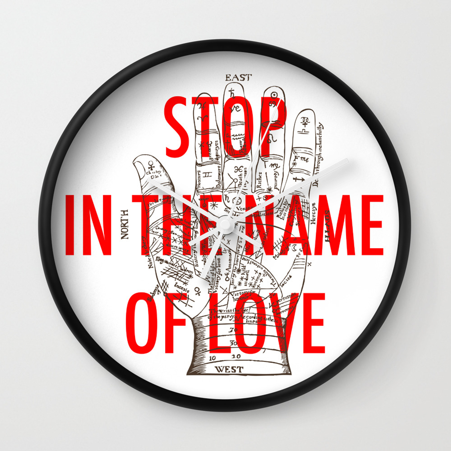 Stop In The Name Of Love Wall Clock By Lafourmi Society6