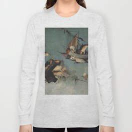 Hieronymus Bosch flying ships and creatures Long Sleeve T-shirt