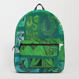 Vintage Hawaian Tapa Print Backpack