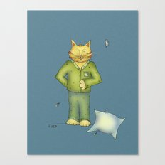 You are the cat's pajamas - blue Canvas Print