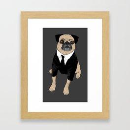 Frank the Pug Framed Art Print