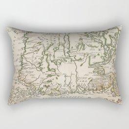 Vintage Map of Finland (1740s) Rectangular Pillow