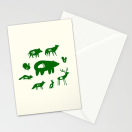 Nature Trail in Forest Green and Cream Stationery Cards